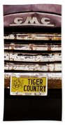 Tiger Country - Purple And Old Beach Towel by Scott Pellegrin