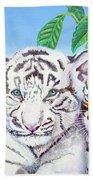 Tiger Cubs Beach Towel