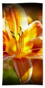 Tiger Lily Flower Beach Towel