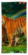 Tiger Love Tropical Beach Towel
