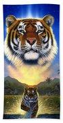 Tiger Of The Lake Beach Towel