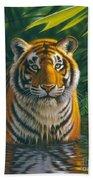 Tiger Pool Beach Towel