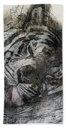 Tiger R And R Beach Towel