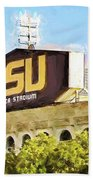 Tiger Stadium - Bw Beach Towel