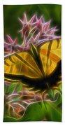 Tiger Swallowtail Digital Art Beach Towel