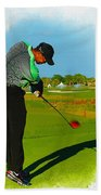 Tiger Woods  - Second Round Of The Honda Classic Beach Towel