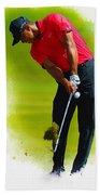 Tiger Woods - The Honda Classic Beach Towel