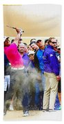 Tiger Woods - The Waste Management Phoenix Open At Tpc Scottsdal Beach Towel