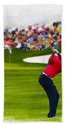 Tiger Woods - The Waste Management Phoenix Open  Beach Towel