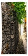 Tight Alley In Stone Beach Towel