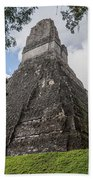 Tikal Pyramid 1b Beach Towel