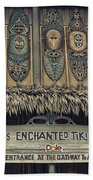 Tiki Room Adventureland Disneyland Beach Towel