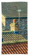 Tile Roofs - Thirsk England Beach Towel