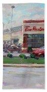 Tim Hortons By Niagara Falls Blvd Where I Have My Coffee Beach Sheet