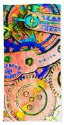 Time In Abstract 20130605p180 Long Beach Towel