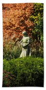 Time In The Garden Beach Towel