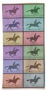 Time Lapse Motion Study Horse Color Beach Towel