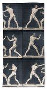 Time Lapse Motion Study Men Boxing Beach Towel