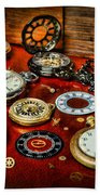 Time - Pocket Watches  Beach Towel by Paul Ward
