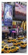 Time Square On A Week Day Beach Towel