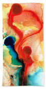 Time Will Tell - Abstract Art By Sharon Cummings Beach Towel