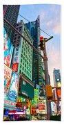 Times Square - New York City Beach Towel