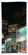 Times Square In 2010 Beach Towel