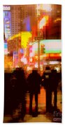 Times Square - The Lights Of New York Beach Towel