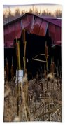Tin Roof Rusted Beach Towel by Bill Cannon