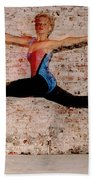 Shelly Ballet Jump Beach Towel