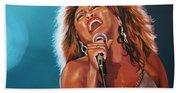 Tina Turner 3 Beach Towel