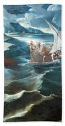 Tintoretto's Christ At The Sea Of Galilee Beach Towel
