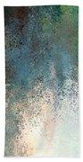 Tiny Blocks Digital Abstract - Cool Blues Beach Towel