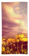 Tiny Flowers Beach Towel by Bob Orsillo