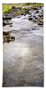 Tiny Rapids At The Bend  Beach Towel