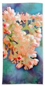 Tiny Spring Tree Blooms - Digital Color Change And Paint Beach Towel