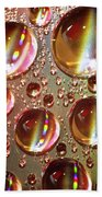 Tiny Water Beads And Spectrum Colors Beach Towel