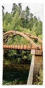 Tioga Bridge Over North Umpqua River Beach Towel