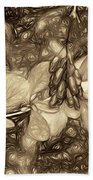 Tis The Season - Antique Sepia Beach Towel