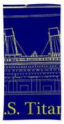 Titanic By Design Beach Towel