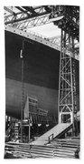 Titanic Under Construction Beach Towel
