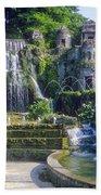 Tivoli Garden Fountains Beach Towel