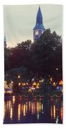 Tivoli Night Lights Beach Towel