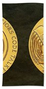 Tlingit Tribe Code Talkers Bronze Medal Art Beach Towel