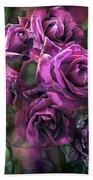 To Be Loved - Purple Rose Beach Towel