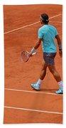 Rafael Nadal To The Baseline Beach Towel