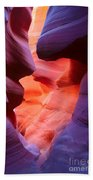 To The Center Of The Earth Beach Towel by Inge Johnsson