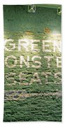 To The Green Monster Seats Beach Towel by Barbara McDevitt