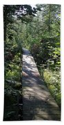 To The Trout Stream Beach Towel