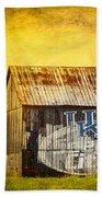 Tobacco Barn In Kentucky Beach Towel